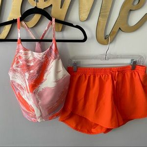 OLD NAVY Coral & Pink Workout Outfit Short Tank